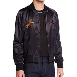 Valentino Horse-Embroidered Bomber Jacket